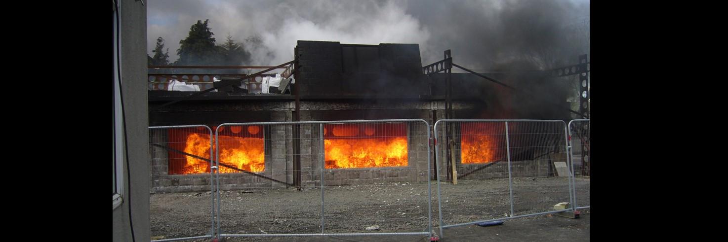 Ulster fire test